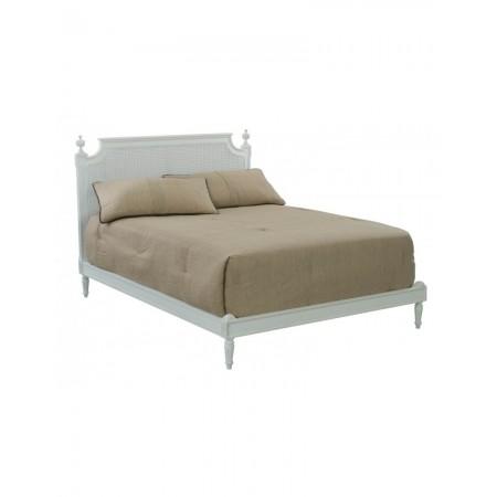 Lit Chamade canné - pied de lit bas